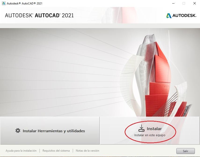 Instalar AutoCAD 2021.